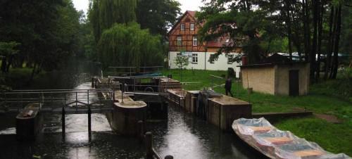 Schleuse an der Dubkow-Mühle