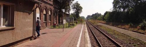 Bahnhof Letschin, Blickrichtung Frankfurt