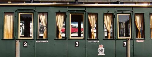 Aufgemöbelter Personen-Waggon im Eisenbahnmuseum