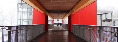 Über dem Bahnhof Hoppegarten