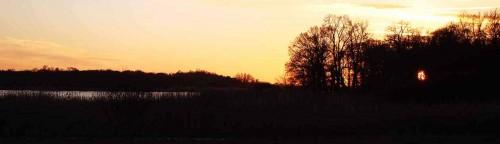 Abendlicht zwischen Bagow und Päwesin