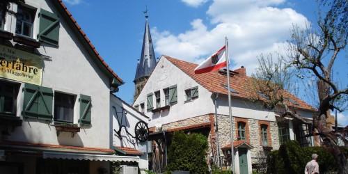 Blick vom Biergarten an der Fähre, Dorf Rahnsdorf