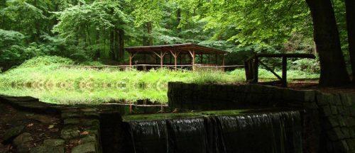 Rastplatz im Tal des Falkenberger Fließes