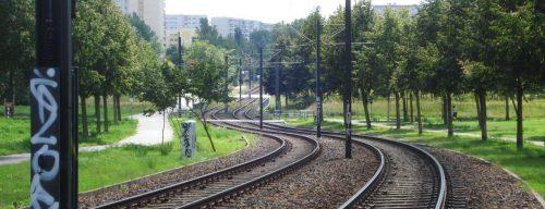 Gleisbett der Straßenbahn, Ahrensfelde