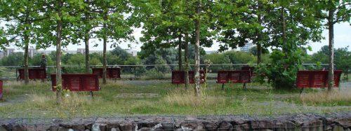 Aussichtsplattform oberhalb des Wiesenparks