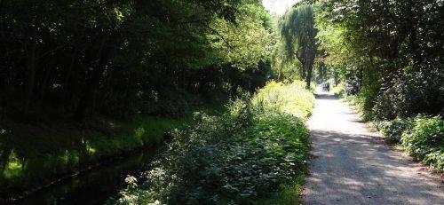 Weg entlang der Panke bei den Karower Teichen